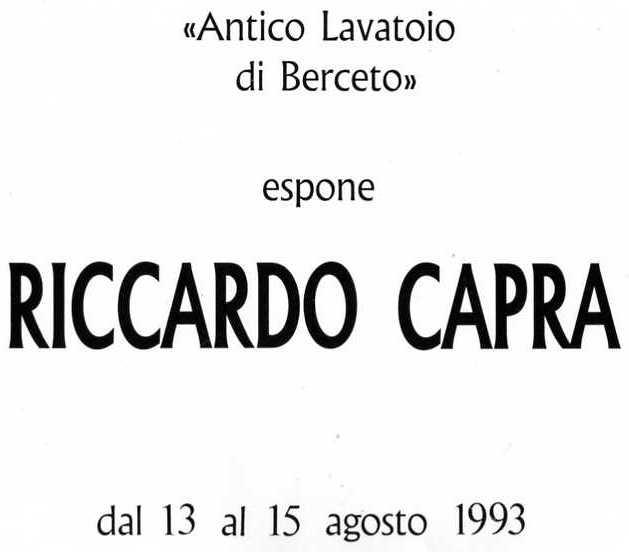 Antico Lavatoio di Berceto, Agosto 1993