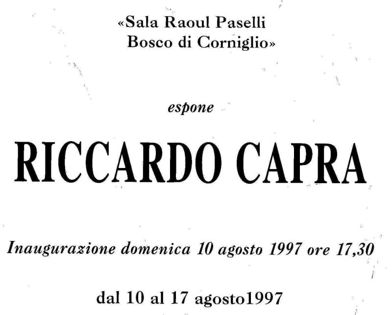 Bosco di Corniglio, Agosto 1997