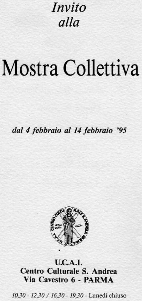 Mostra Collettiva UCAI di Parma, Febbraio 1995