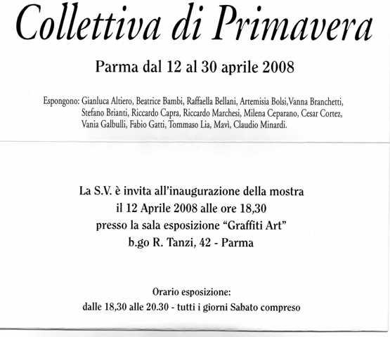 Collettiva di Primavera, Aprile 2008