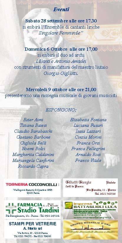 Giuseppe Verdi: Simboli, feste e scenari di passione, Settembre 2013
