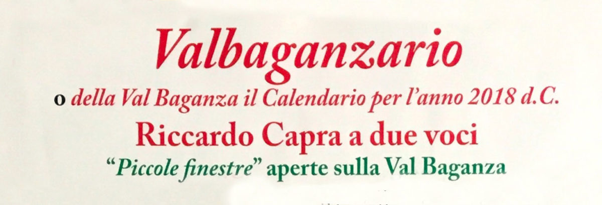 Valbaganzario 2018 – Riccardo Capra a due voci