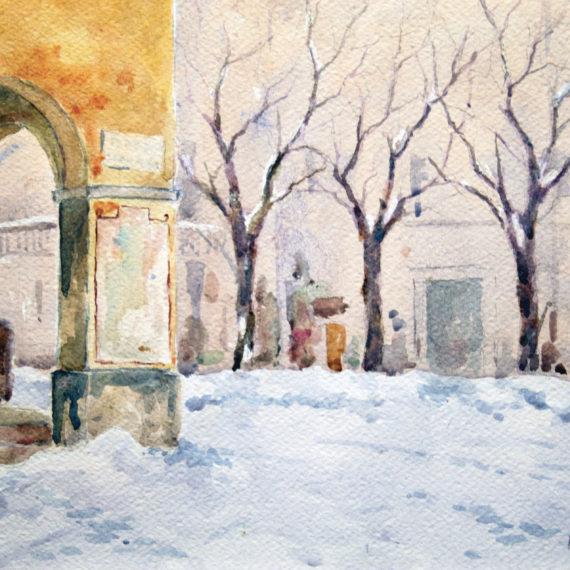 Nevicata a Sala Baganza