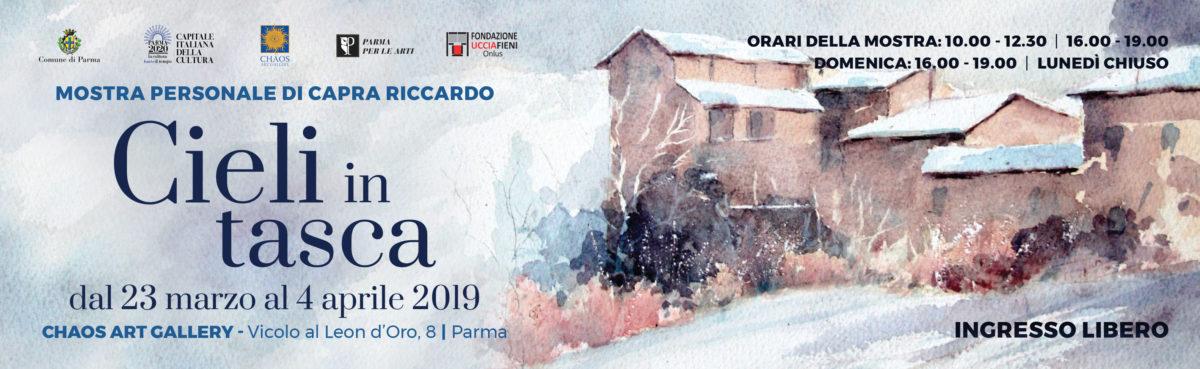"""""""Cieli in tasca"""" mostra alla Chaos Gallery a Parma"""